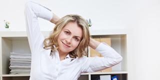 Nessun dolore in gravidanza con la ginnastica in ufficio