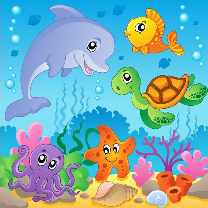 Quanti pesci ci sono nel mare bimbi sani e belli for Disegni pesciolino arcobaleno