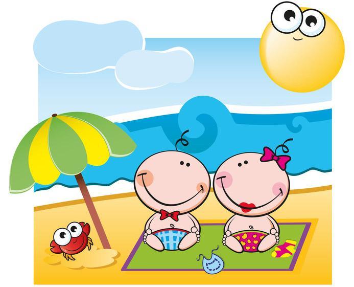 Neonato al sole sempre sotto l ombrellone for Sole disegno da colorare