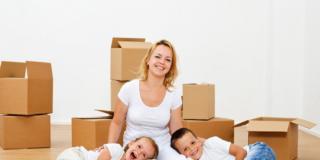 Trasloco: come fare se c'è un bambino?