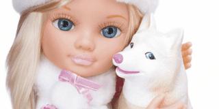 Nancy e gli animali sulla neve