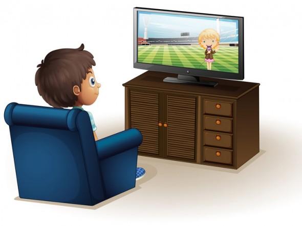 Risultati immagini per bimbi davanti alla tv disegni