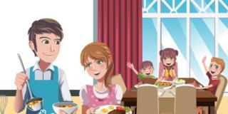 Alimentazione: giovani che cenano in famiglia hanno meno problemi