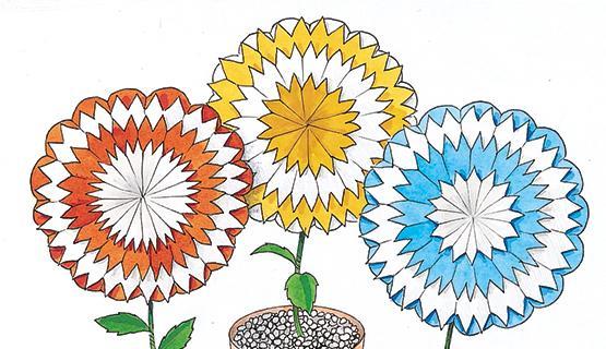 I fiori multicolori con la velina