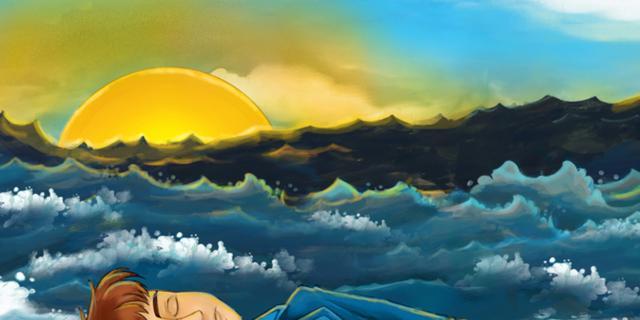 Il naufrago e il mare – Esopo