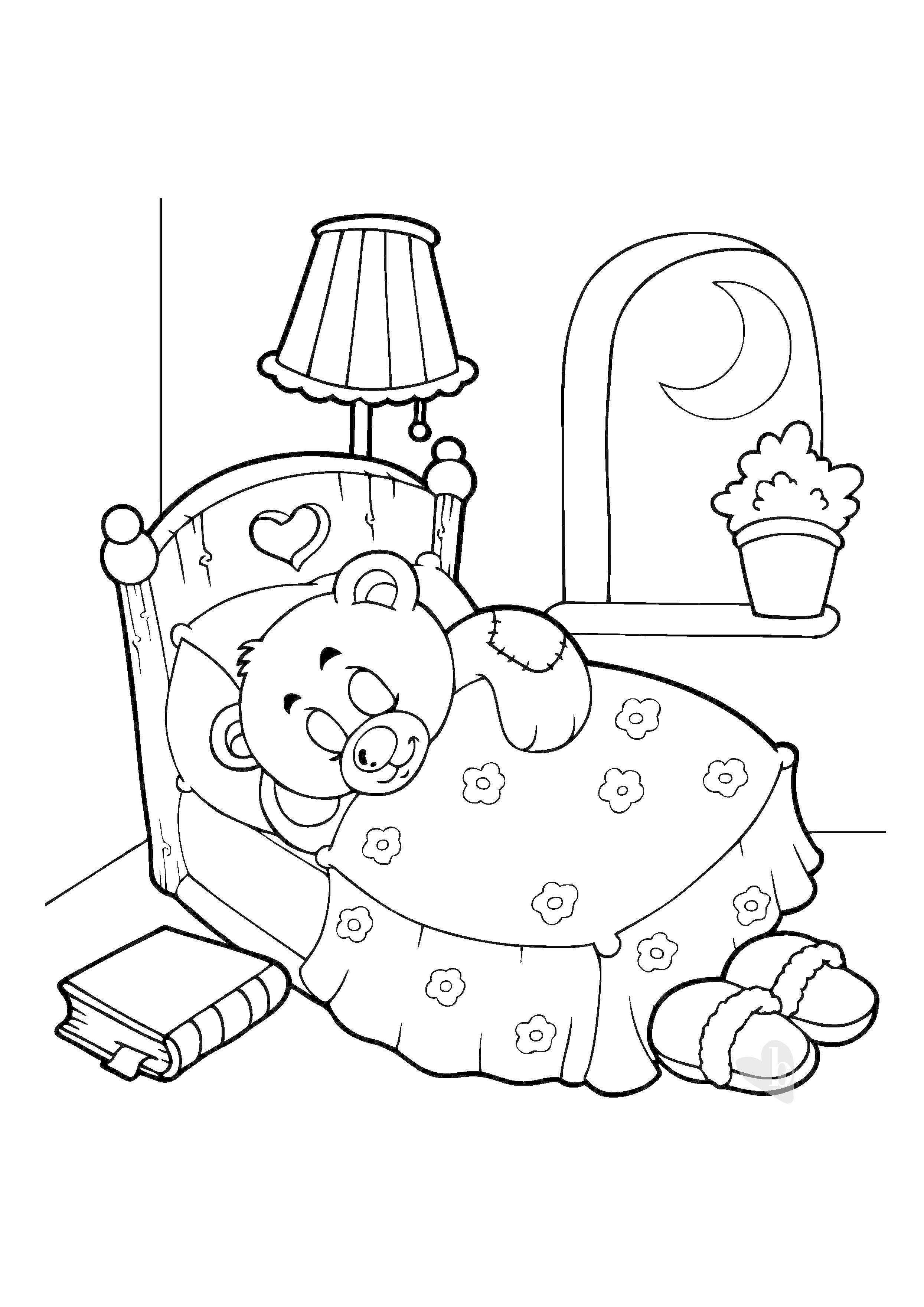 disegni da colorare bimbo che dorme