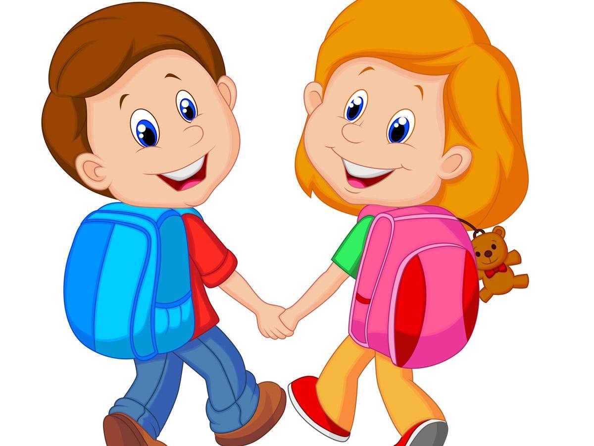 Sempre di più i bambini che vanno a scuola piedi bimbi