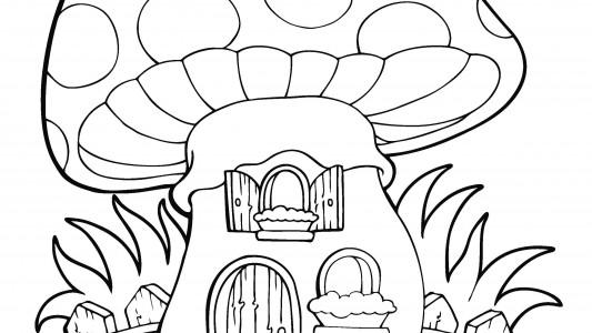 disegno casa fungo