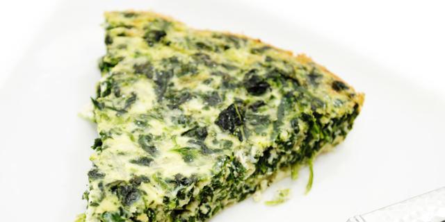 Sformato di formaggio ed erbette