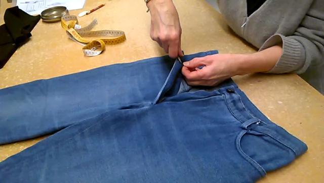 jeans ritagliare pezzo