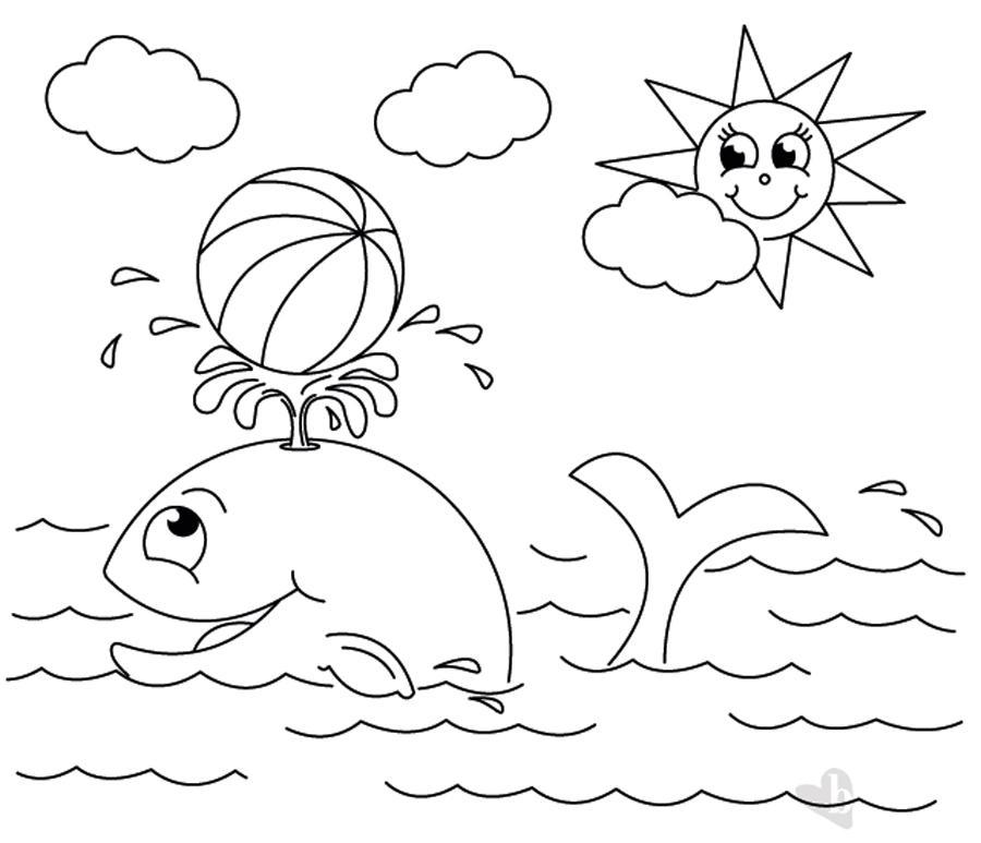 Balena e sole disegno da colorare bimbi sani e belli for Immagini sole da colorare