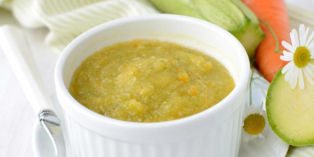 Crema vegetale con prosciutto