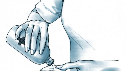 Disinfettare garza sterile per cordone ombelicale