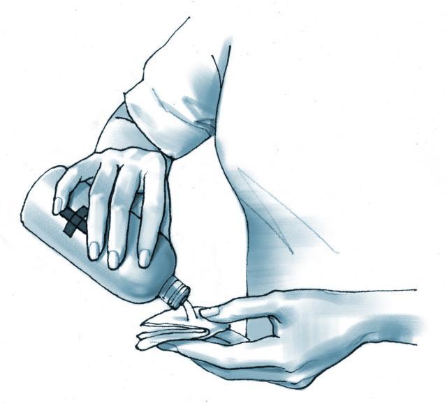 Disinfettare garza sterile