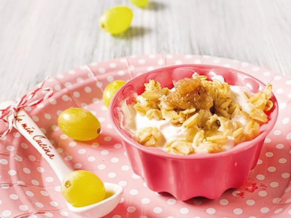Porridge all'uva