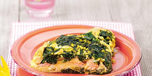 Omelette di spinaci e salmone
