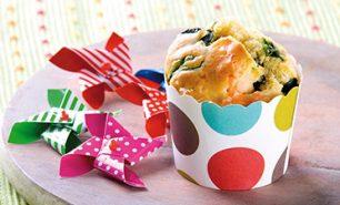 Muffin con Salmone Norvegese e spinaci
