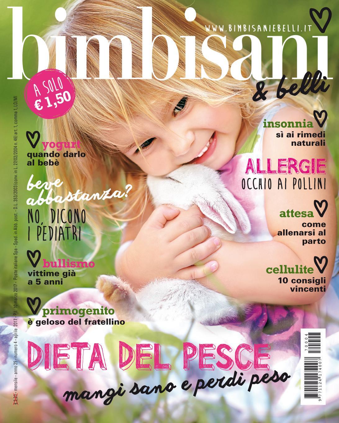In edicola dal 10 Marzo il nuovo numero di Bimbisani & belli di Aprile