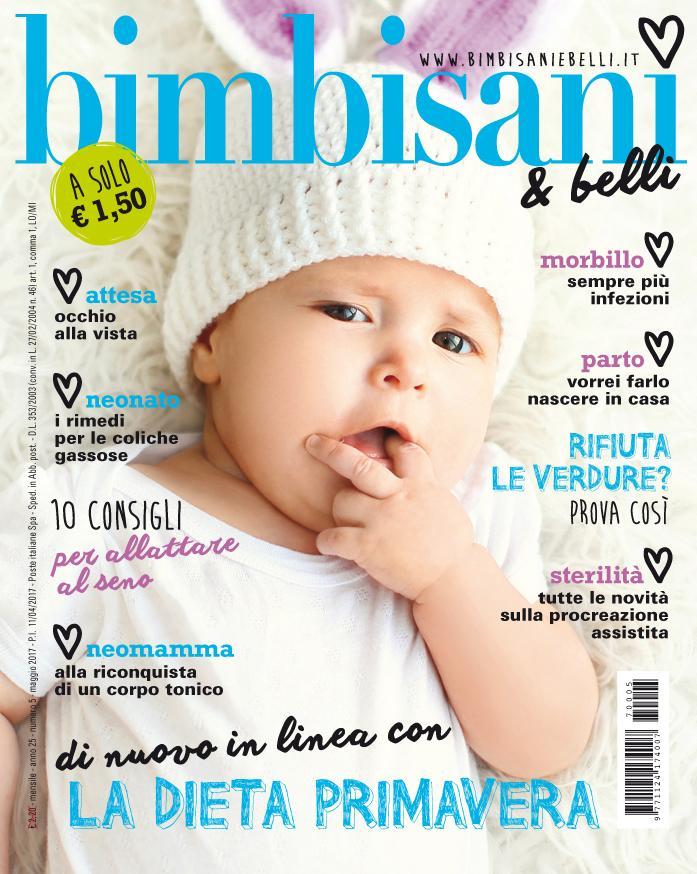 In edicola dall'11 Aprile il nuovo numero di Bimbisani & belli di Maggio