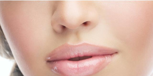 Labbra perfette non hanno l'effetto canotto