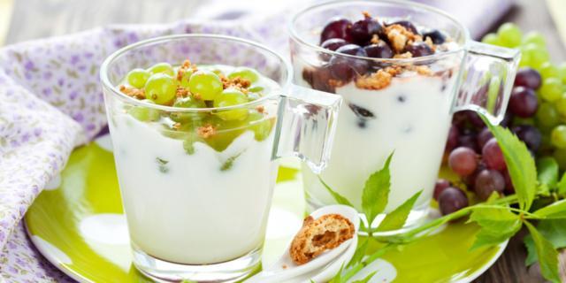 Uva con crema agli amaretti