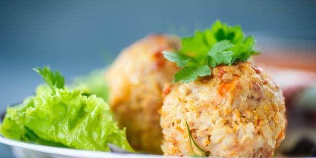 Palline di riso e verdure