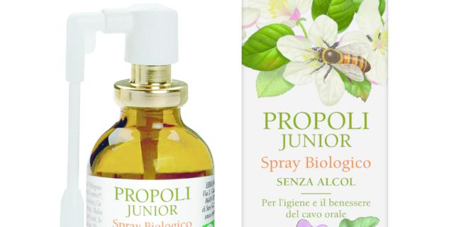 Propoli Junior Spray biologico senza alcol, Erbamea