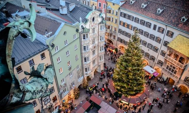 Innsbruck_mercatino centro storico_albero natale