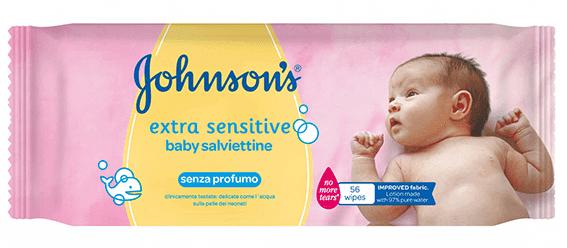 Extra Sensitive Baby Salviettine, Johnson's