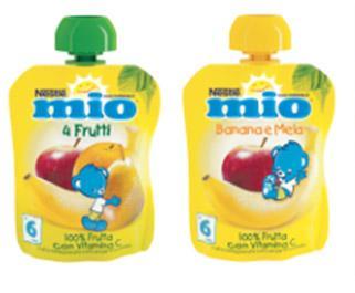 """Merenda da spremere Mio alla """"frutta"""", Nestlé"""