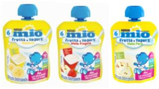 Merenda da spremere Mio Frutta e Yogurt, Nestlé