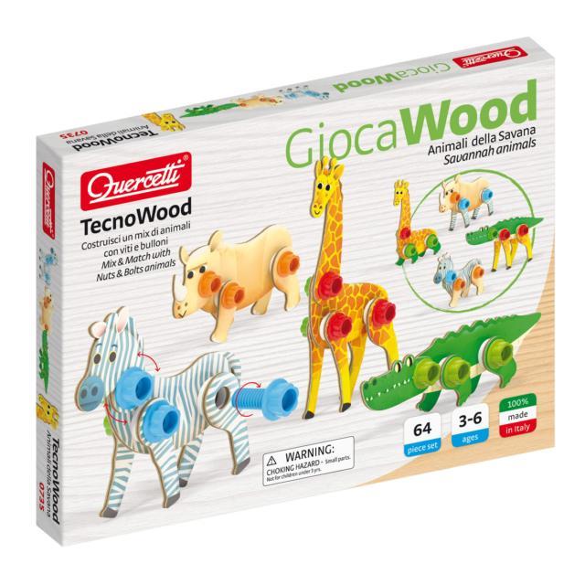 Ok Tecno Wood Animali Quercetti