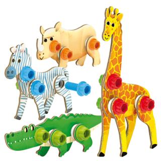 Tecno Wood Animals, Quercetti
