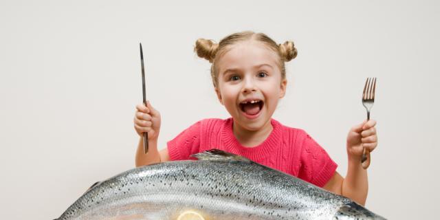 Pesce ai bambini: l'intelligenza galoppa