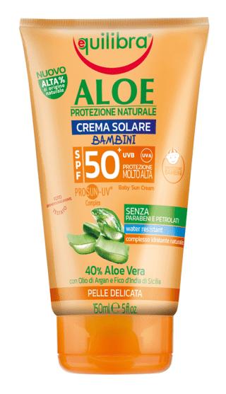 Aloe crema Solare Bambini SPF 50+, Equilibra