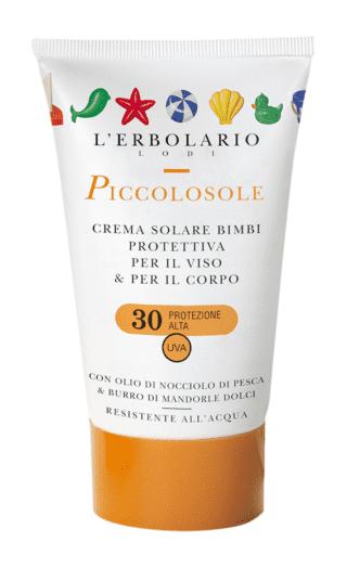 Crema solare bimbi SPF 30 Piccolosole, L'Erbolario