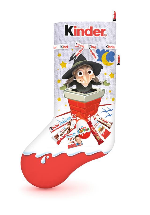 Calza, Kinder Ferrero