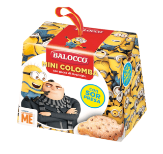Mini colomba Cattivissimo Me, Balocco