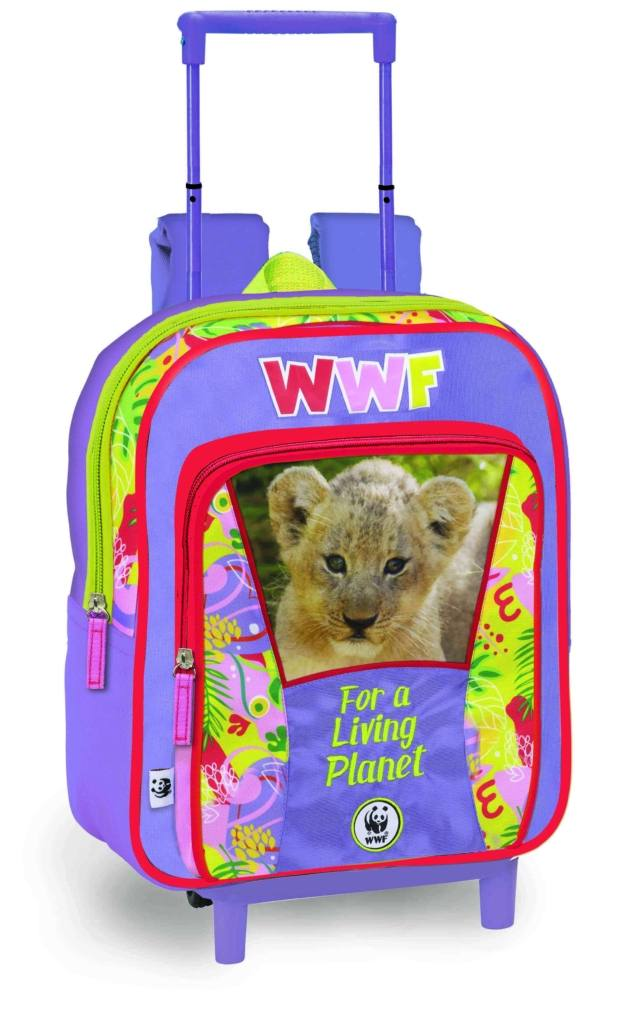 Zaino asilo Trolley Jungle WWF, Franco Cosimo Panini