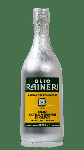 Olio extra vergine di oliva Riserva del fondatore, Olio Raineri