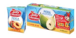 Succhi di frutta tetra crystal ecosostenibili, Jolly Colombani